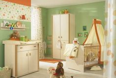 Good babyzimmer m bel gr ne wandfarbe beige kombination paidi