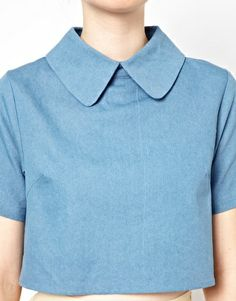 cropped large collar shirt #asos