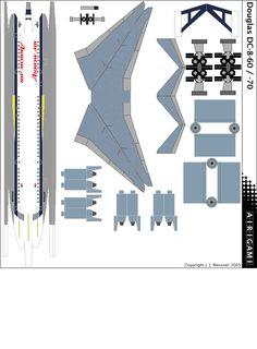 Douglas Aircraft, Paper Models, Aviation, Map, Mcdonald, Jumping Jacks, Barbie, Nice, Fashion