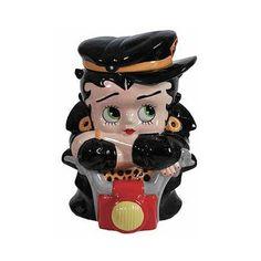 Betty Boop Biker Betty Ceramic Cookie Jar