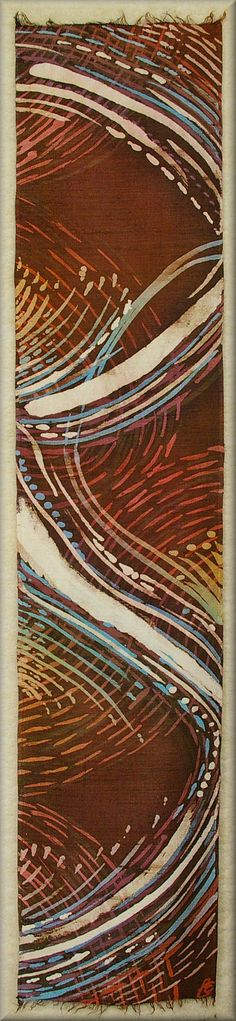 "Fire and Ice - Thick Dupioni Silk Unisex Scarf   Hand dyed by Laura Elderton ""SilkinArt""  https://www.etsy.com/shop/lauraelderton"