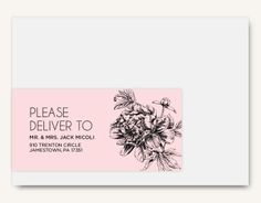 Pretty in Peonies Address Label - Hoopla House