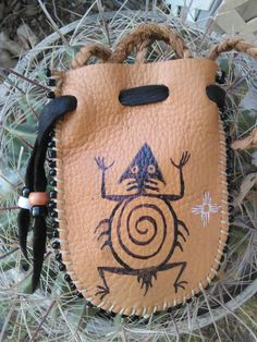 The Horned One Medicine Bag by earthwayspirit on Etsy