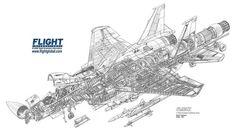 McDonnell Douglas F-15A Eagle Cutaway