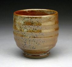 Shino Glazed Stoneware Cup for Sake or Tea  by jeffbrownpottery
