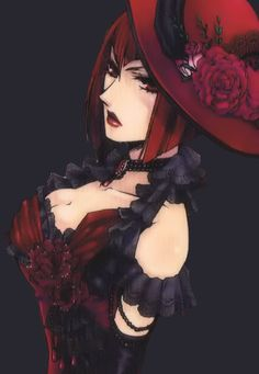 Madame Red from Black Butler. She is so pretty here! Madame Red, Black Butler Anime, Black Butler 3, Ciel Phantomhive, Vocaloid, Book Of Circus, Black Butler Kuroshitsuji, It Goes On, I Love Anime