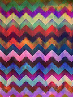 #ElementEdenArtSearch Watercolor & Digital Coloring Chevron Patterns by Tanya Brown, via Behance