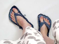 Upcycled Blue Jean Slippers : Blue Jean Slippers