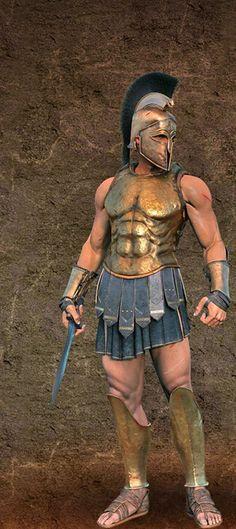 Roman Empire Armor -                                                              Athenian hoplite
