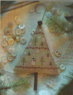 Primitive Folk Art Cross Stitch Pattern  OH