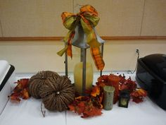 Could do anything with a lantern; table decor church - Google Search