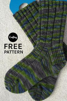 This beginner sock pattern features a unique stitch that is guaranteed to make a beautiful pair of socks. Get the free knitting pattern at Craftsy and give it a whirl.