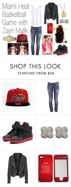 """Miami Heat Basketball Game with Zayn Malik"" by abs-of-steel ❤ liked on Polyvore featuring Mitchell & Ness, MTWTFSS Collection, Nudie Jeans Co., Supra, Morris & David, Roberto Coin, Michael Kors, one direction, outfits and outfit"
