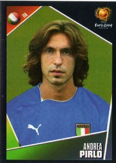 Andrea Pirlo of Italy. Retro Football, Football Soccer, Football Players, Football Stickers, Football Cards, Baseball Cards, Laws Of The Game, Andrea Pirlo, Association Football
