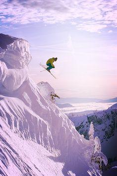 Big verticals in Revelstoke, BC. #skiing