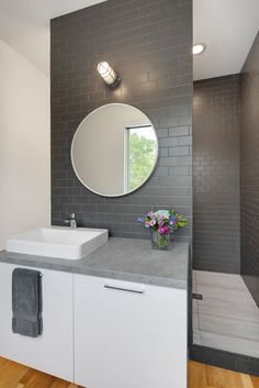 Charcoal Subway Tile - Flexhouse: Eco Friendly Row Homes in Chicago in architecture  Category