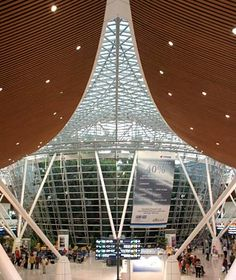 World's Most Beautiful Airport  Kuala Lumpur International Airport, Malaysia    Beauty Mark: The airport is part of Malaysia's Multimedia Super Corridor. Fast trains will take you directly to the country's newest cities, monumental Putrajaya and technologically sophisticated Cyberjaya.