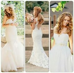 """""""Aimee"""", """"Nicole"""", and """"Cameron"""" by K Holly photography for Haute Bride on Amsale Wedding Dresses For Curvy Women, Pink Wedding Dresses, Wedding Gowns, Wedding Attire, Different Styles, Wedding Planner, Dream Wedding, Wedding Dreams, Wedding Inspiration"""