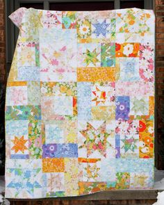 "jenib320:""Happy Weekend! For Flashback Friday (#fbf) this week I want to share one of my most loved and used quilts. This was the first quilt I made from vintage sheets. I used one of my favorite quilt patterns: Sparkling Cider by All Washed Up."""