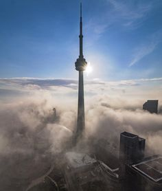 October 29, 2015: In The Clouds, image submitted to the #UrbanToronto flickr pool by Giulio Cosmo Calisse #Toronto #urban #city #downtown #CNTower #buildings #architecture #tower