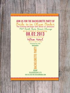 Margarita Bachelorette Party Invitation  Fiesta by PinchOfSpice, $15.00