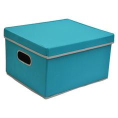 "Room Essentials Lidded Box - Set of 2 - Solid Seagoing- Target- 10""H x 13""W"