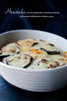 Moussaka // Greek Casserole    eggplant, tomato meat sauce, & bechamel sauce