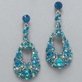 blue bling earring