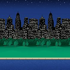 $18.99 4 feet wide, 50 feet long. Our City Limits Patterned Flat Paper shows the lights of the city in the dark starry night.