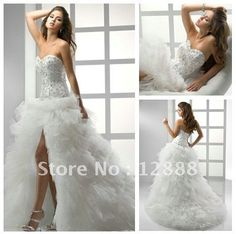 open front wedding dress