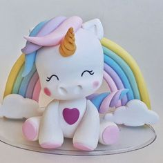 Unicorn Themed Birthday Party, Superhero Birthday Cake, Unicorn Party, Cake Topper Tutorial, Fondant Rose Tutorial, Polymer Clay Figures, Fondant Figures, Paper Towel Roll Crafts, Fondant People