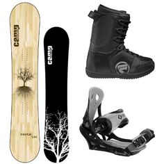Camp Seven Roots Men's Snowboard with Flow Vega Lace Boots and System Icon Bindings $289.00