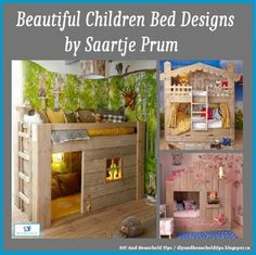 DIY And Household Tips: Children Bed Forts Designs By Saartje Prum
