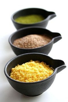"""3 easy to make Flavored Salts. I would never have explored """"finishing salts"""" if it were not for my friend Hannah Slattery-Quintanilla who made me some home made seasoned salt and now? my whole family is addicted to her delicious recipe! Homemade Food Gifts, Homemade Spices, Homemade Seasonings, Edible Gifts, Diy Food, Kitchen Recipes, Cooking Recipes, Cooking Tips, No Salt Recipes"""