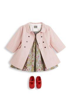 Classic baby girl jacket.