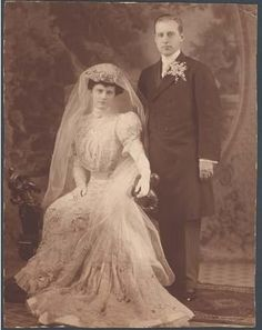 Marjorie Merriweather Post in 1905 Wedding to Edward Close (Photo courtesy of Hillwood Museum)