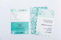 Modern Honeycomb Lace | MagnetStreet Weddings
