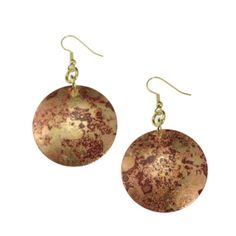 Amazon.com: John S Brana Handmade Red Patinated Copper Disc Earrings: Jewelry