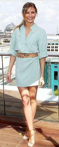 Dress - Akris Shoes - Sergio Rossi Belt - 3.1 Phillip Lim Jewelry - Jennifer Meyer