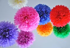 10 Giant Paper Pom Poms in Festive Southwestern Colors for your next get together!