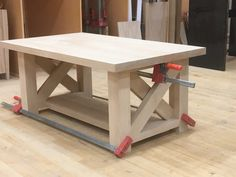 Woodworking Furniture Storage Boxes DIY Chunky Farmhouse Coffee Table - DIY Woodworking Plans - Handmade Haven Furniture Storage Boxes DIY Chunky Farmhouse Coffee Table - DIY Woodworking Plans - Handmade Haven Woodworking Projects That Sell, Woodworking Furniture, Diy Wood Projects, Furniture Plans, Woodworking Crafts, Woodworking Plans, Diy Furniture, Woodworking Classes, Woodworking Machinery