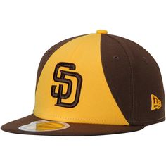 8ab59de183e Youth San Diego Padres New Era Brown Gold Authentic Collection On-Field  Alternate 2 Fitted Hat