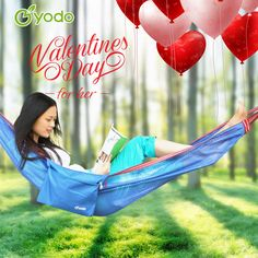 Happy Valentine's Day. Get a Hammock and enjoy a sunshine weenken. http://amzn.to/2lE10x7 This Yodo Upgraded Camping Single Nylon Hammock with Carabiner for Bottle could be packed in a Zipped Storage Bag, Portable for Patio, Yard, Lawn and Garden.