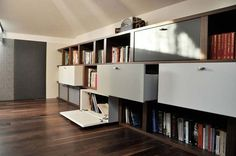 great wall shelves & storage drawers