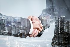 Double exposure of business partnership handshake and modern city , successful business greeting or agreement after perfect deal Premium Photo Double Exposition, Photoshop, Starting A Business, Successful Business, Business Events, Business Meeting, European Destination, Use Case, Learning