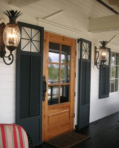 Timberlane offers quality custom exterior shutters and shutter hardware. Create stunning curb appeal with custom Timberlane style for your home! Front Door Porch, Front Door Decor, Garage Door Hardware, Carpenter Work, Home Reno, New Furniture, Curb Appeal, Custom Homes, Building A House