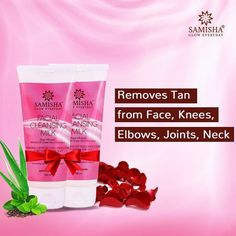 Samisha brings you Facial cleansing milk for natural, healthy & beautiful skin. Its enriched with natural ingredients like✅ aloe vera, ✅green tea,✅ almond oil, and ✅rose that will gently remove dirt, makeup, and impurities while maintaining the skin's natural moisture & ph level. It's an excellent skin cleanser that will soothe skin, cure infections. It suits all skin types. Cleansing Milk, Facial Cleansing, Pore Cleanser, Moisturizer, Tan Removal, Acne Cream, Glowing Skin, Natural Skin, Aloe Vera
