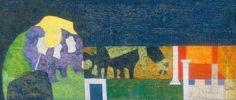 "Bálint Endre - ""Egy csarnok falát láttam..."", 1972 Artists, Painting, Painting Art, Paintings, Painted Canvas, Artist, Drawings"