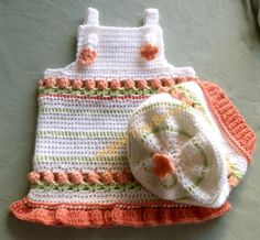 (4) Name: 'Crocheting : Crochet Baby Jumper and Slouchy Hat
