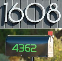 Luxello Neutra Modern 8 inch House Numbers feature a backlit LED